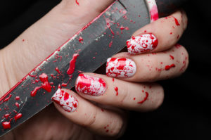 bloody manicure
