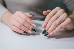 mármol nail art