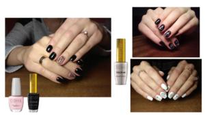 Manicura nail art mediante líneas